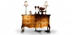 antique French style wood carving Sideboard