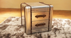 Aluminium trunk, night table, end table