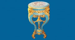 Round golden decorative table