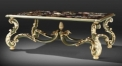 European style luxury hand painted coffee table