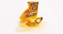 Exquisite golden 24K home decor metal craft owl decoration , European-style home accessories vintage ornaments