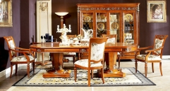 Modern style classical handmade solid wood long dining table